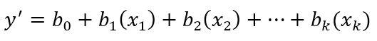 فرمول رگرسیون خطی چندگانه