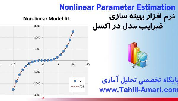 نرم افزار بهینه سازی ضرایب مدل در اکسل|Nonlinear Parameter Estimation