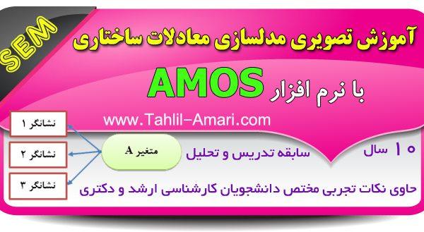 آموزش تصویری مدلسازی معادلات ساختاری با نرم افزار AMOS